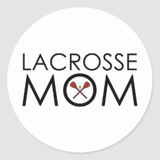 Lacrosse Mom Round Sticker