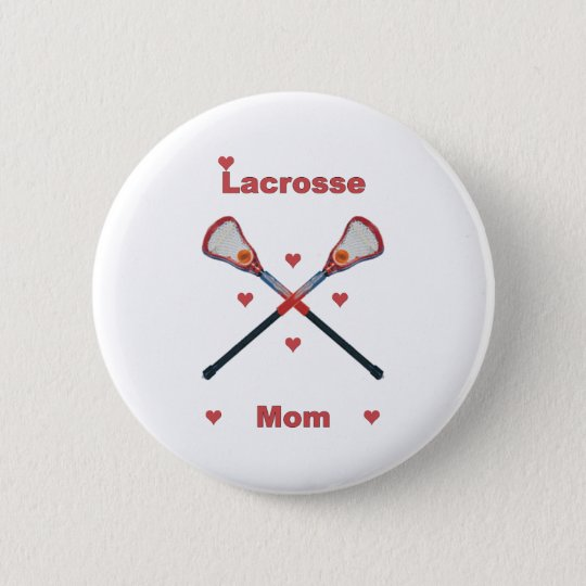 Lacrosse Mum Hearts 6 Cm Round Badge
