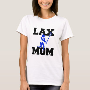 Lacrosse Mum in Blue T-Shirt