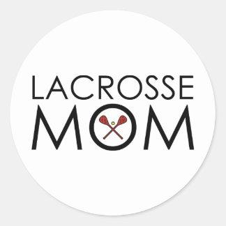 Lacrosse Mum Round Sticker