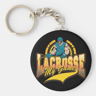 Lacrosse My Game Basic Round Button Key Ring