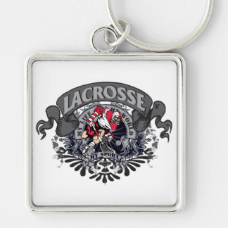 Lacrosse My Sport Silver-Colored Square Key Ring