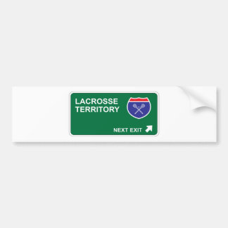 Lacrosse Next Exit Bumper Sticker