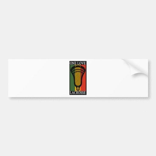 Lacrosse OneLove Bumper Sticker
