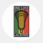 Lacrosse OneLove Round Sticker