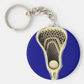 lacrosse party favors basic round button key ring