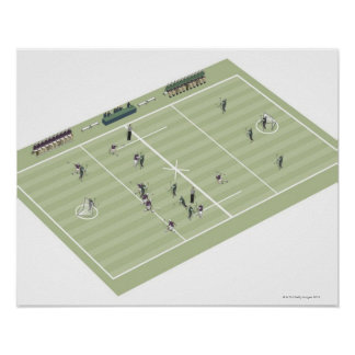 Lacrosse pitch and positions posters