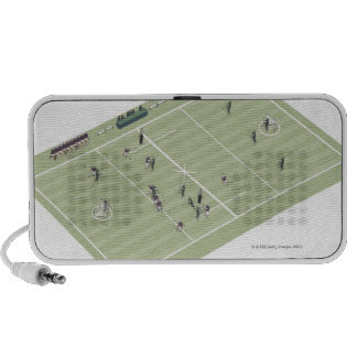 Lacrosse pitch and positions speaker system