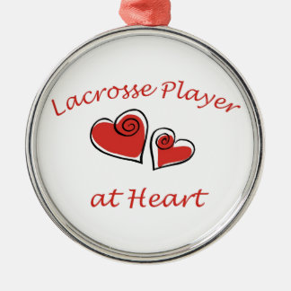 Lacrosse Player at Heart Ornaments