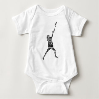 Lacrosse Player Baby Bodysuit