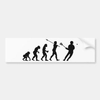 Lacrosse Player Bumper Sticker