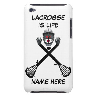 Lacrosse Player Cartoon Barely There iPod Cover