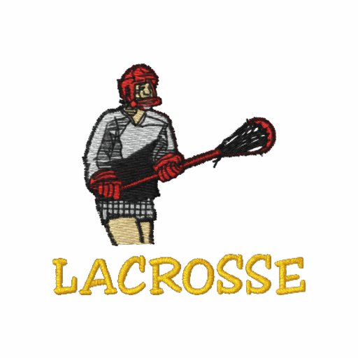 Lacrosse Player Embroidered Shirt Polo Shirt