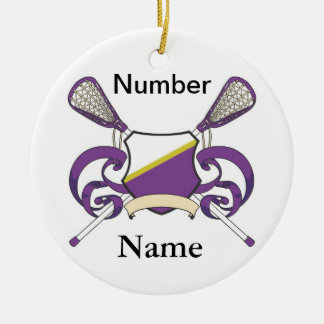 lacrosse player ornament b