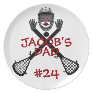 Lacrosse Player Parent Party Plate