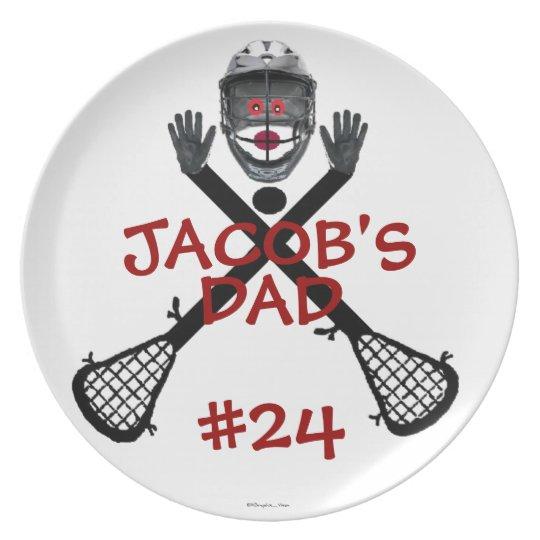 Lacrosse Player Parent Plate