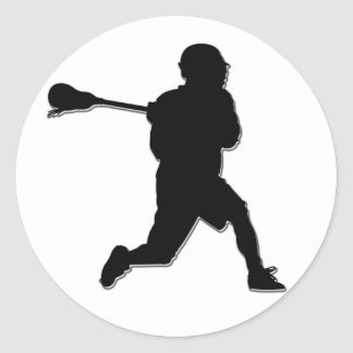 Lacrosse Player Sticker
