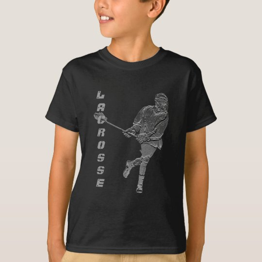 Lacrosse Player T-shirt Customisable