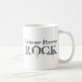 Lacrosse Players Rock Basic White Mug