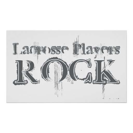 Lacrosse Players Rock Posters
