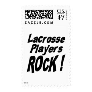 Lacrosse Players Rock ! Stamps