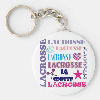 Lacrosse Repeating Basic Round Button Key Ring