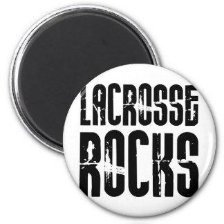 Lacrosse Rocks 6 Cm Round Magnet