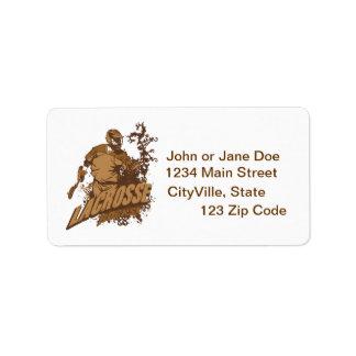 Lacrosse Rocks Address Label