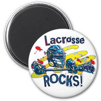 Lacrosse Rocks  LaX Gear 6 Cm Round Magnet