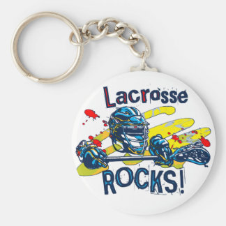 Lacrosse Rocks  LaX Gear Basic Round Button Key Ring