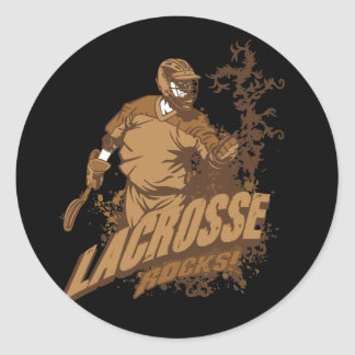 Lacrosse Rocks! Round Sticker