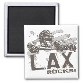 Lacrosse Rocks Square Magnet