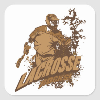 Lacrosse Rocks! Square Sticker