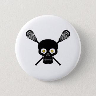 Lacrosse Skull 6 Cm Round Badge