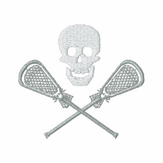 Lacrosse Skull And Cross Sticks Embroidered Embroidered Shirt