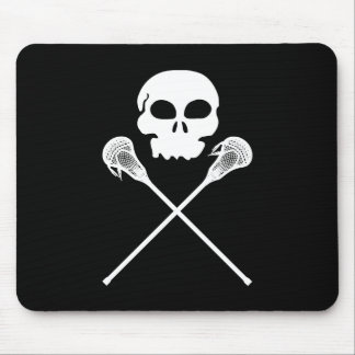 Lacrosse Skull Crossed Sticks Mouse Mat