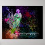 Lacrosse Splatter spread poster