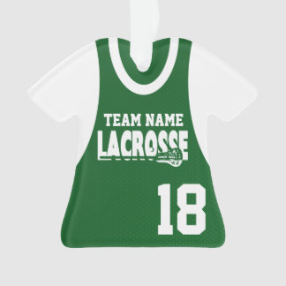 Lacrosse Sports Jersey Green with Number