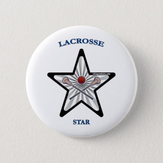 Lacrosse Star 6 Cm Round Badge