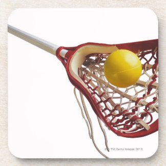 Lacrosse stick and ball coaster