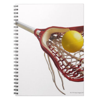 Lacrosse stick and ball spiral note book