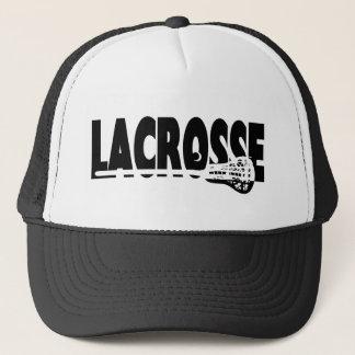 Lacrosse Stick Black and White Cap