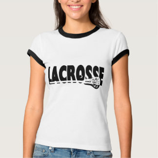 Lacrosse Stick Black and White T-Shirt