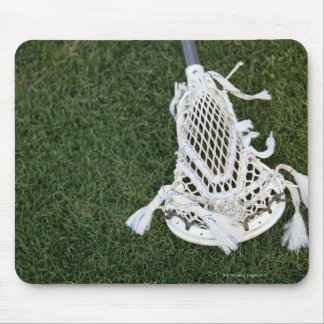 Lacrosse stick on grass mouse mat