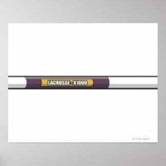 Lacrosse stick poster