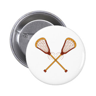Lacrosse Sticks 6 Cm Round Badge