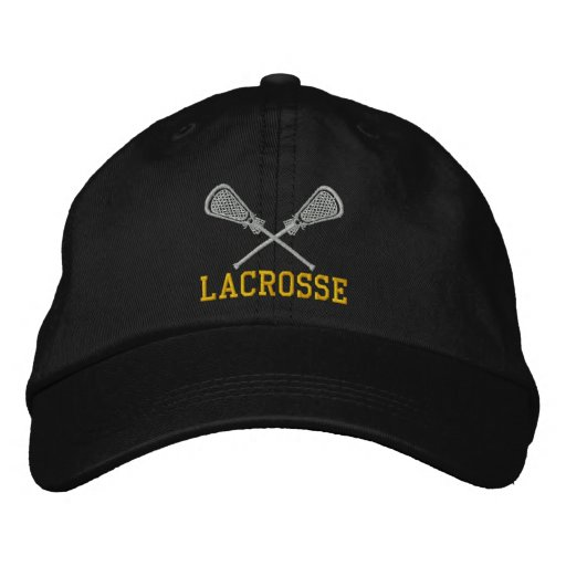 Lacrosse Sticks Crossed Embroidered Cap Embroidered Hats