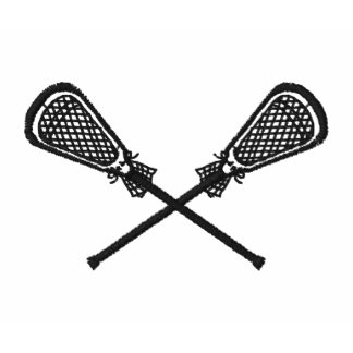 Lacrosse Sticks Crossed Embroidered Shirt Sleeve
