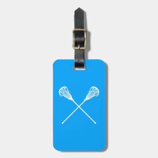 Lacrosse Sticks Luggage Tag Blue