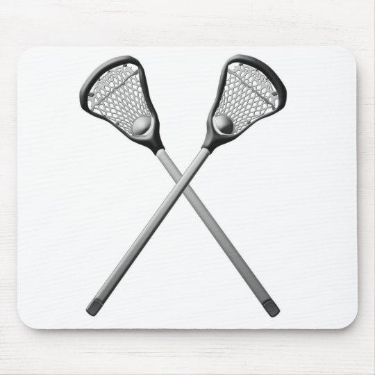 Lacrosse Sticks Mouse Mat